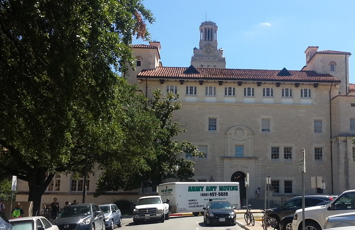 We help students move at the University of Texas in Austin.