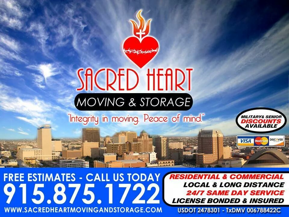 Sacred Heart Moving and Storage - Serving The El Paso Area