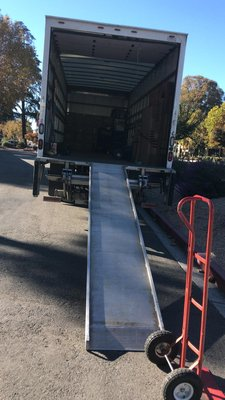 That ramp to load the truck