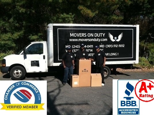Chamber of Commerce verified movers