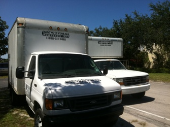 Moving and storage Services Trucks