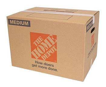 Home Depot moving boxes