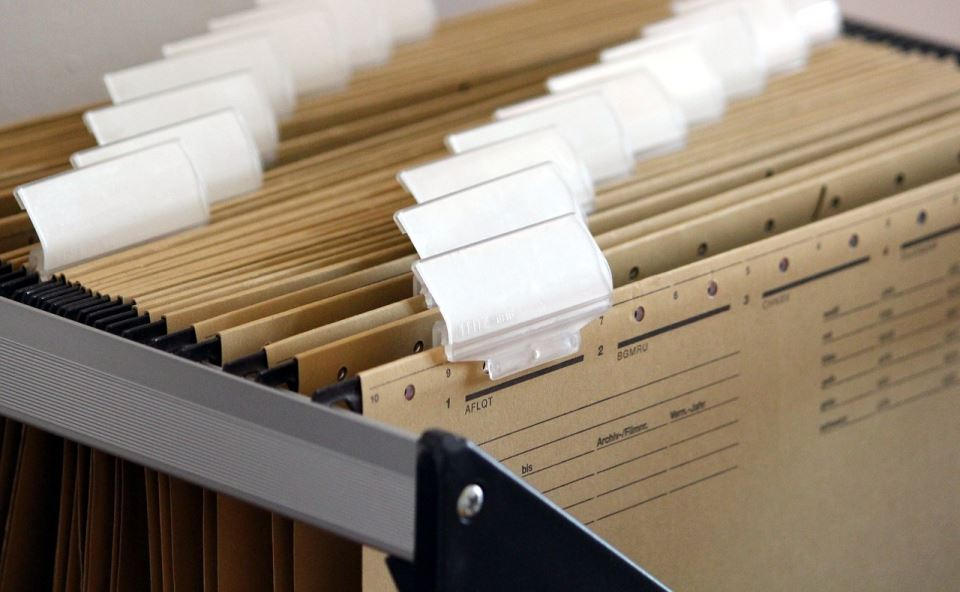 organizing documents before move