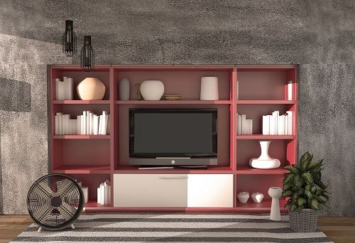 Packing TV and Entertainment Center