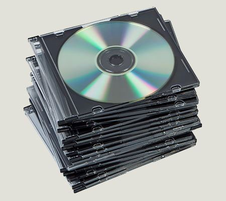 How to pack CDs and DVDs