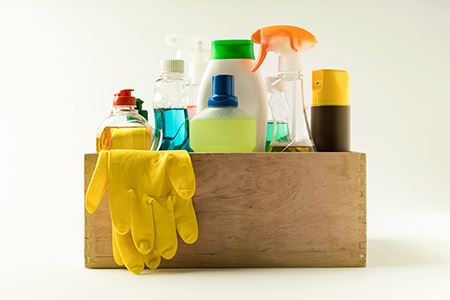 How to Pack Cleaning Products