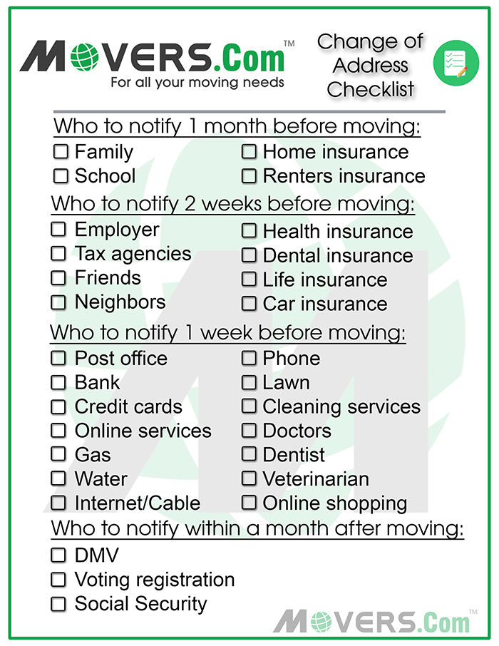 the ultimate change of address checklist